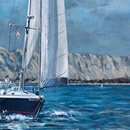 Sailing in Sardinia. Commissioned